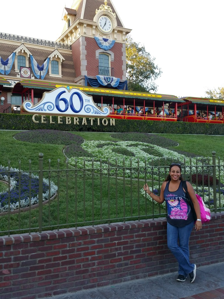 Leanette Fernandez at the Disneyland Diamond Celebration