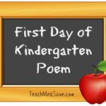 First Day of Kindergarten Poem