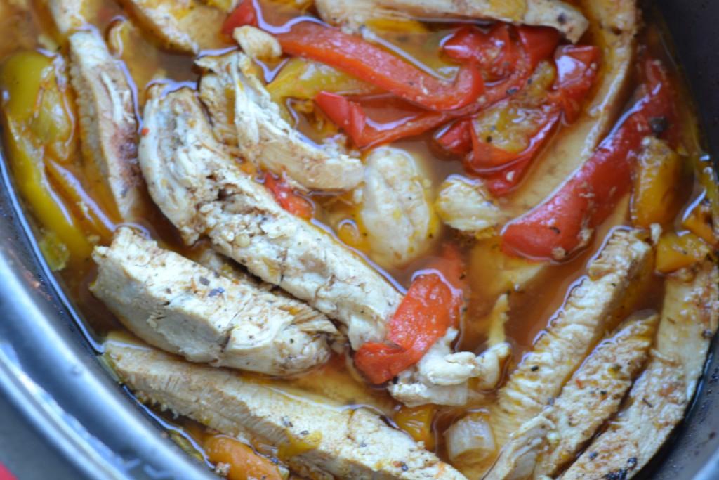 Slow Cooker Chicken Fajitas Cooked