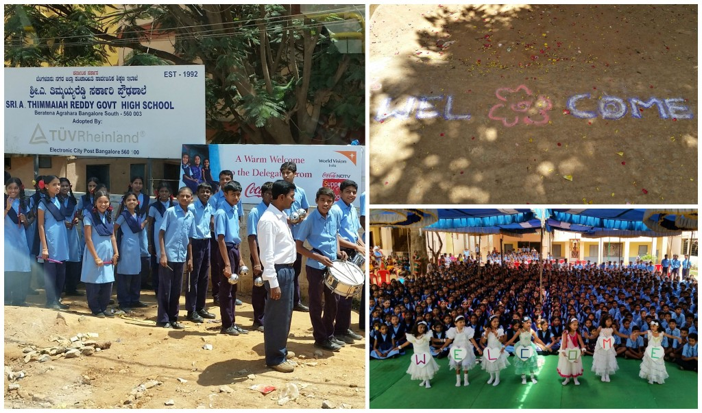 Thimmaiah Reddy Government High School Warm Welcome