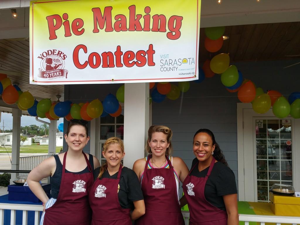 Yoder's Restaurant Pie Making Contest Participants