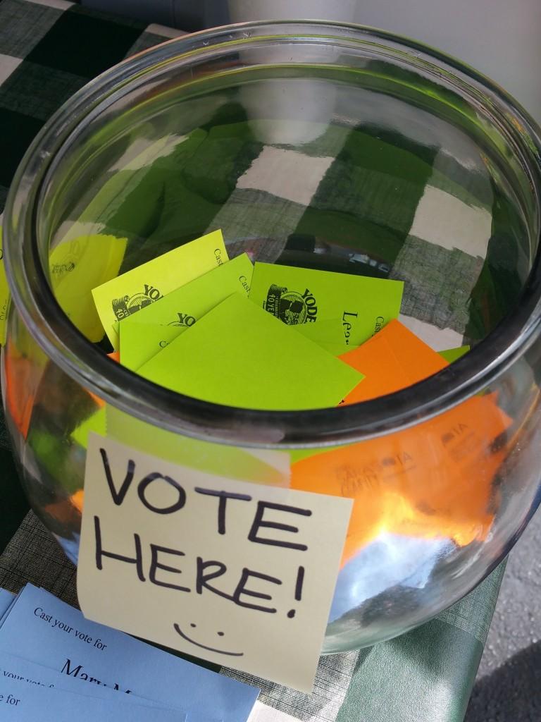 Yoder's Restaurant Pie Making Contest Votes