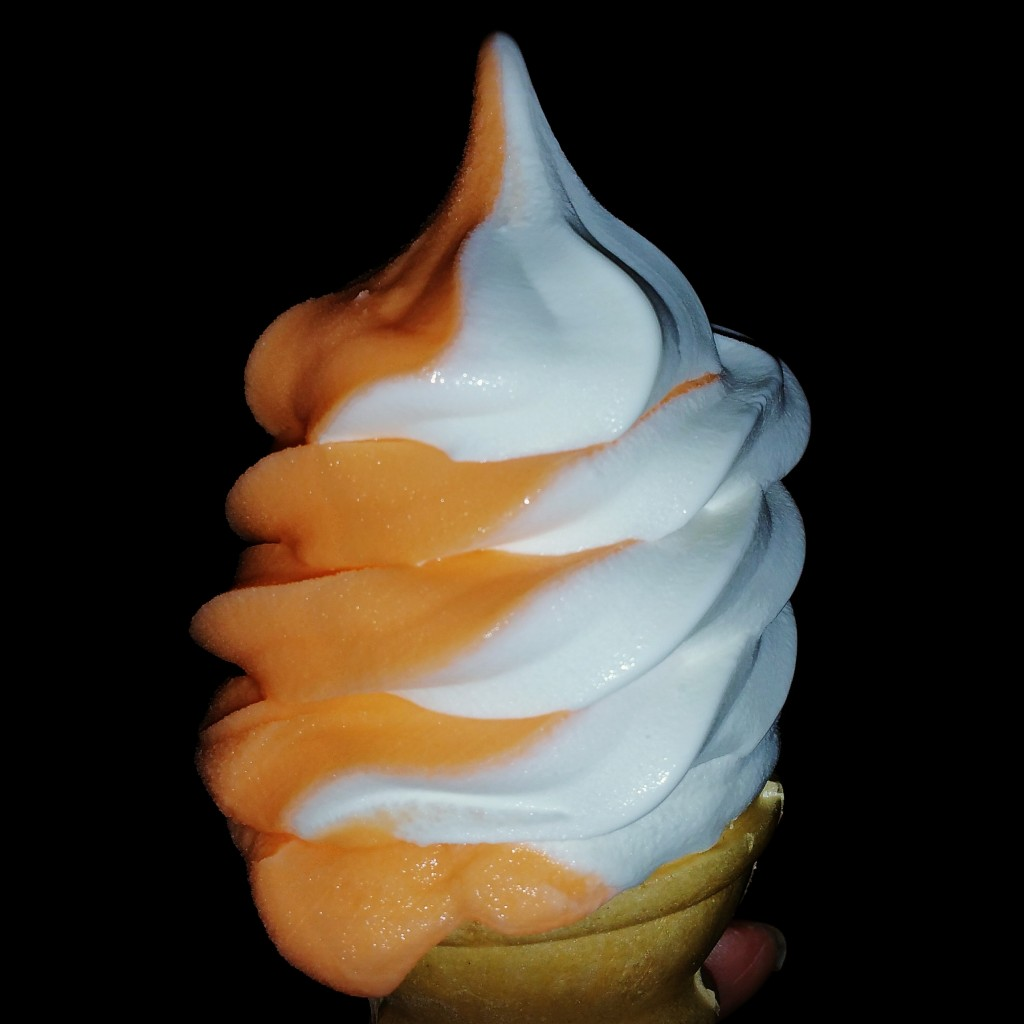 Candy Corn Soft Serve