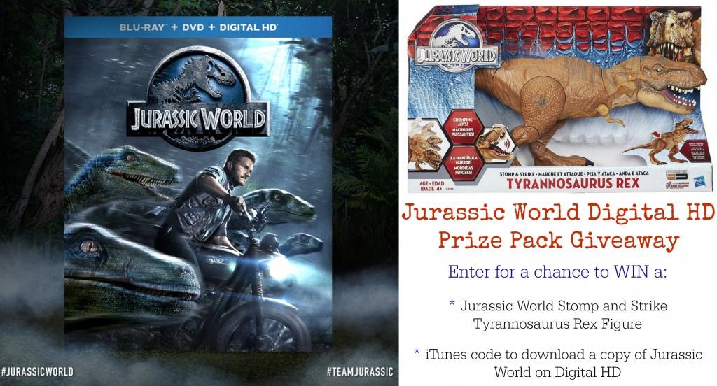 Jurassic World Digital HD Prize Pack Giveaway