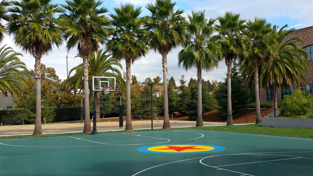 Pixar Animation Studios Basketball Court and Volleyball