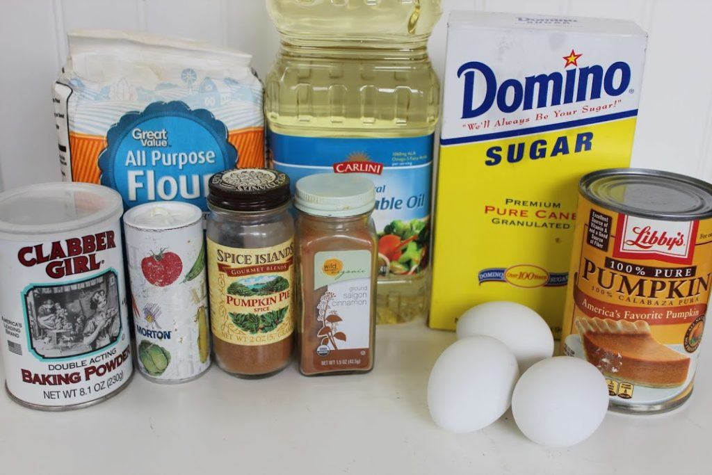 Pumpkin Cake Doughnuts Ingredients