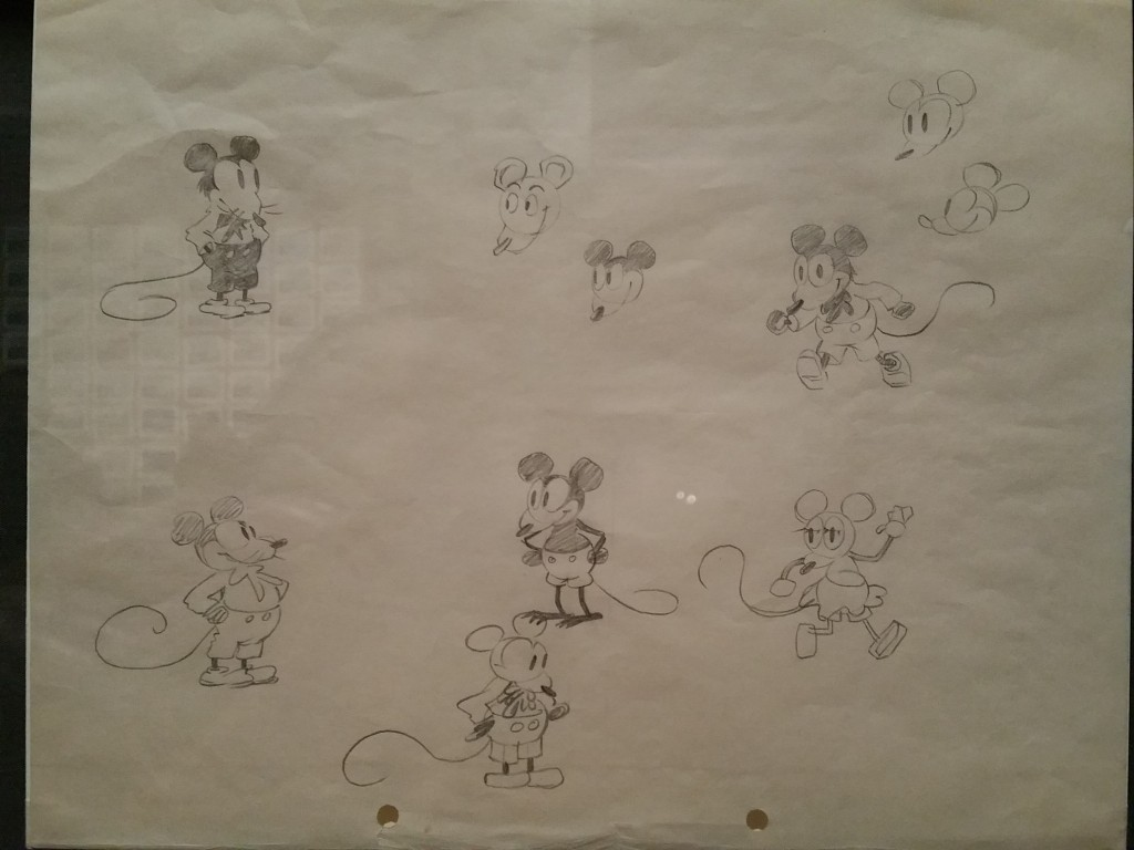 Walt Disney Family Museum - Earliest known drawing of Mickey Mouse