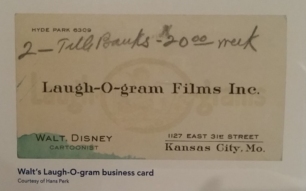 Walt Disney Family Museum - Laugh-O-Films Business Card