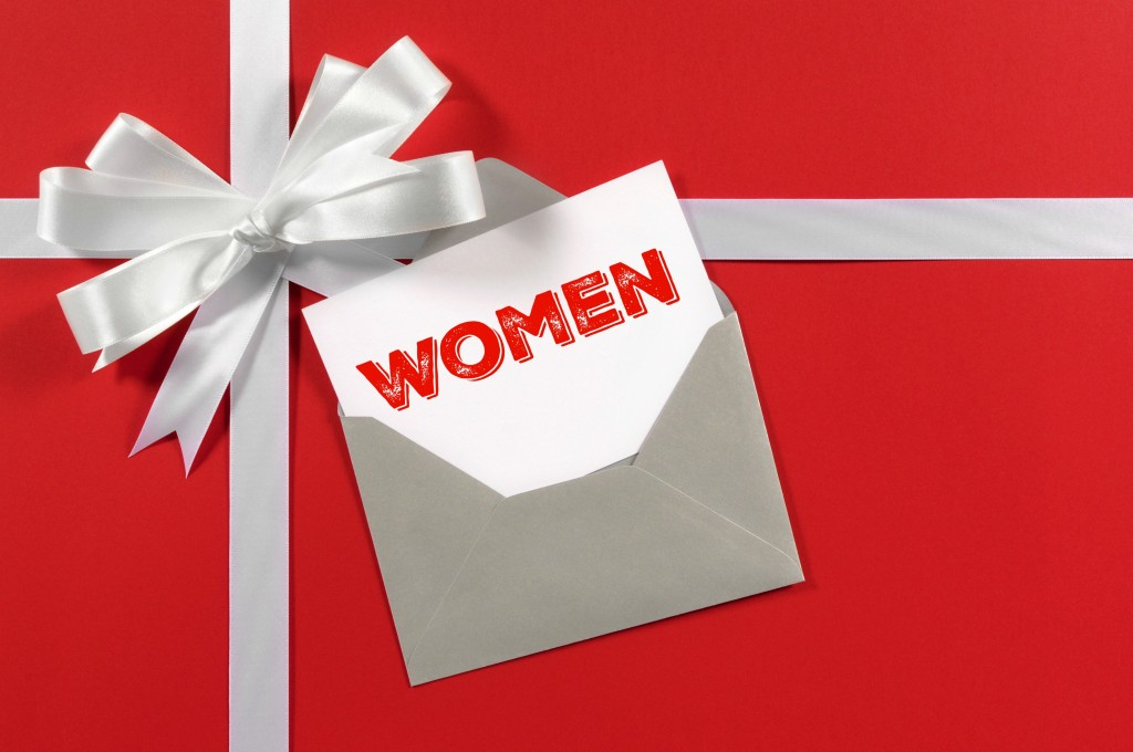women gift tag