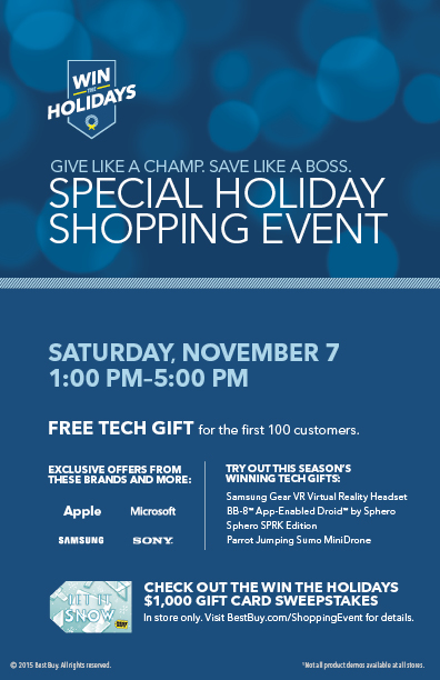 Best Buy 2015 Holiday Shopping Event Flyer