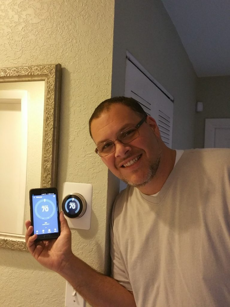 Hubby loves his Nest Thermostat