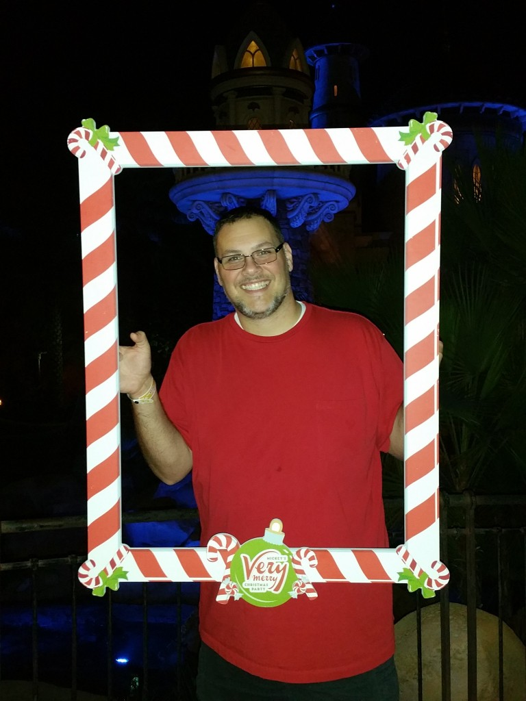 Mickey's Very Merry Christmas Party Dad Photo