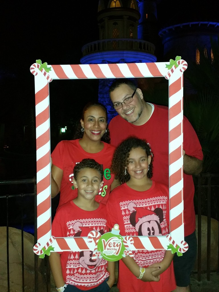 Mickey's Very Merry Christmas Party Fernandez Family Pic