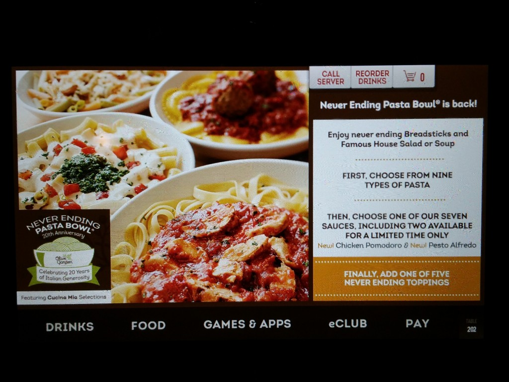 Olive Garden's Never Ending Pasta Bowl Offer