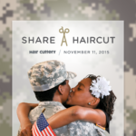 Share–A–Haircut With a Veteran in Need With Every Adult Haircut on Veteran's Day at Hair Cuttery