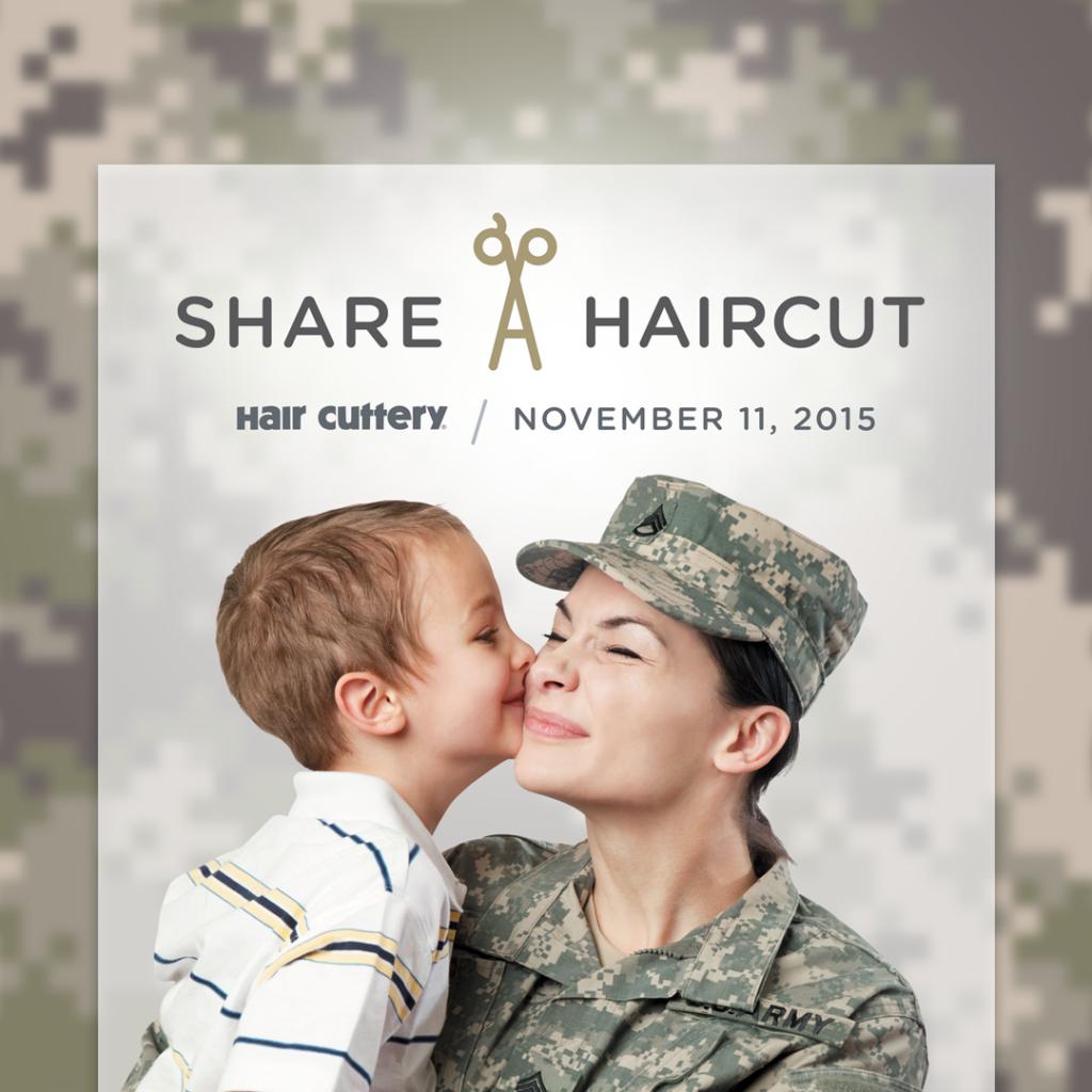 Share–A–Haircut With a Veteran MOM