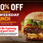 Red Robin Royalty Members Get 20% off Lunch Thru November 20th