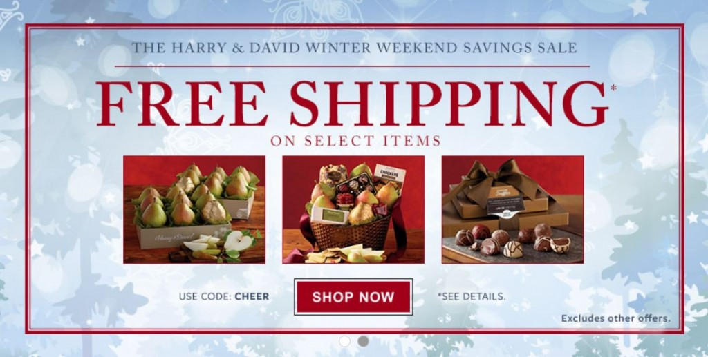 Harry and David Free Shipping