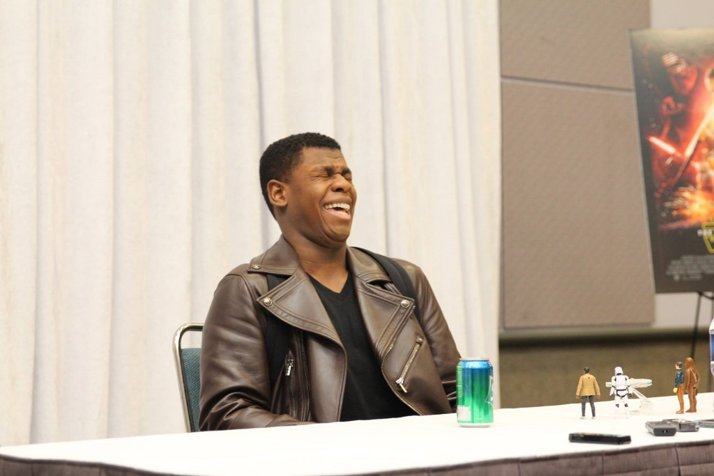 John Boyega Laughing