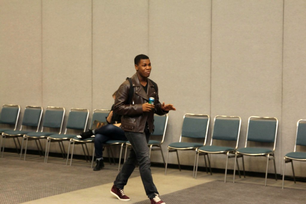 John Boyega Walking Into The Interview