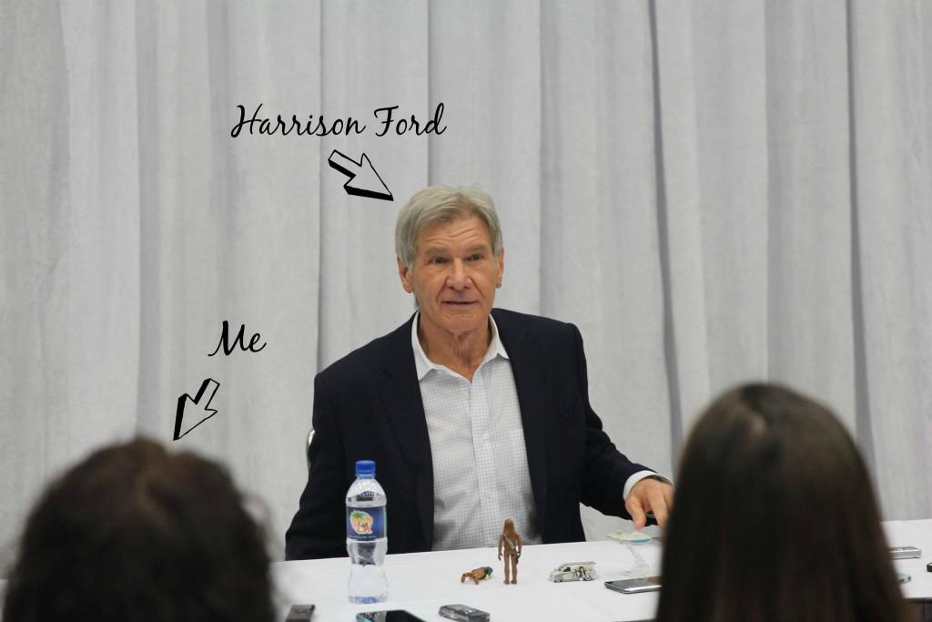 Leanette Fernandez interviewing Harrison Ford