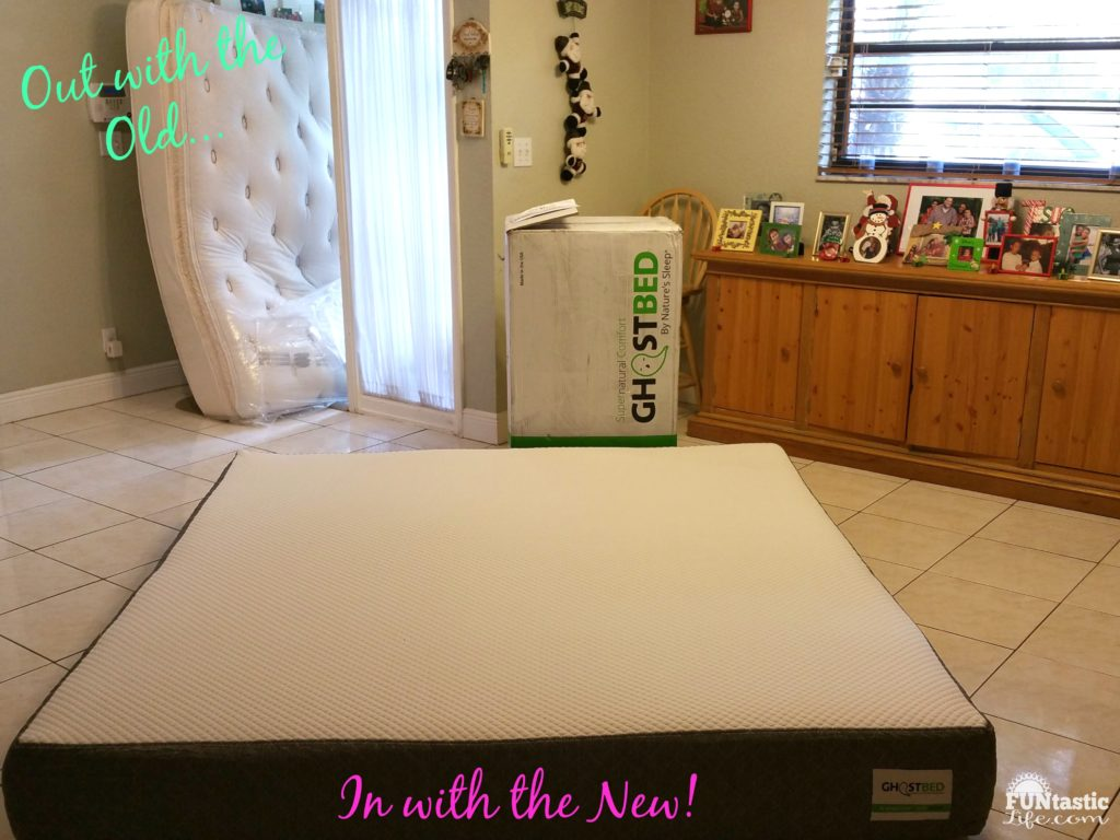 Out with the old in with the new...GhostBed Mattress REV
