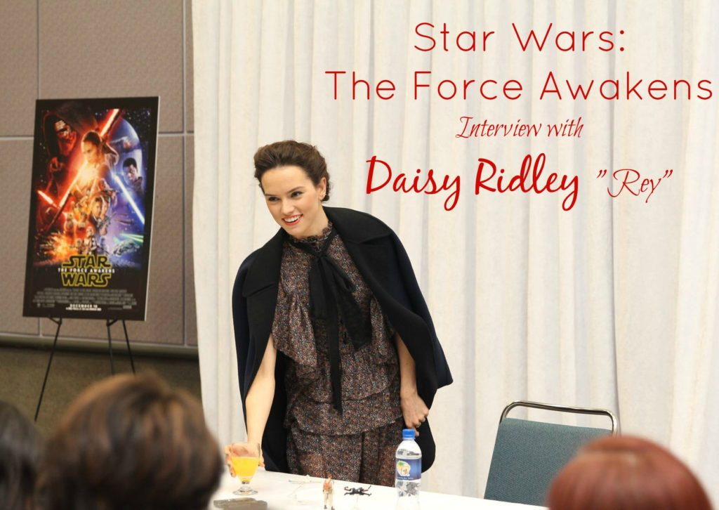 Star Wars The Force Awakens Interview with Daisy Ridley