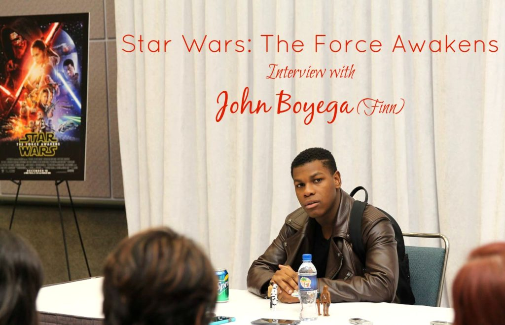 Star Wars The Force Awakens Interview with John Boyega