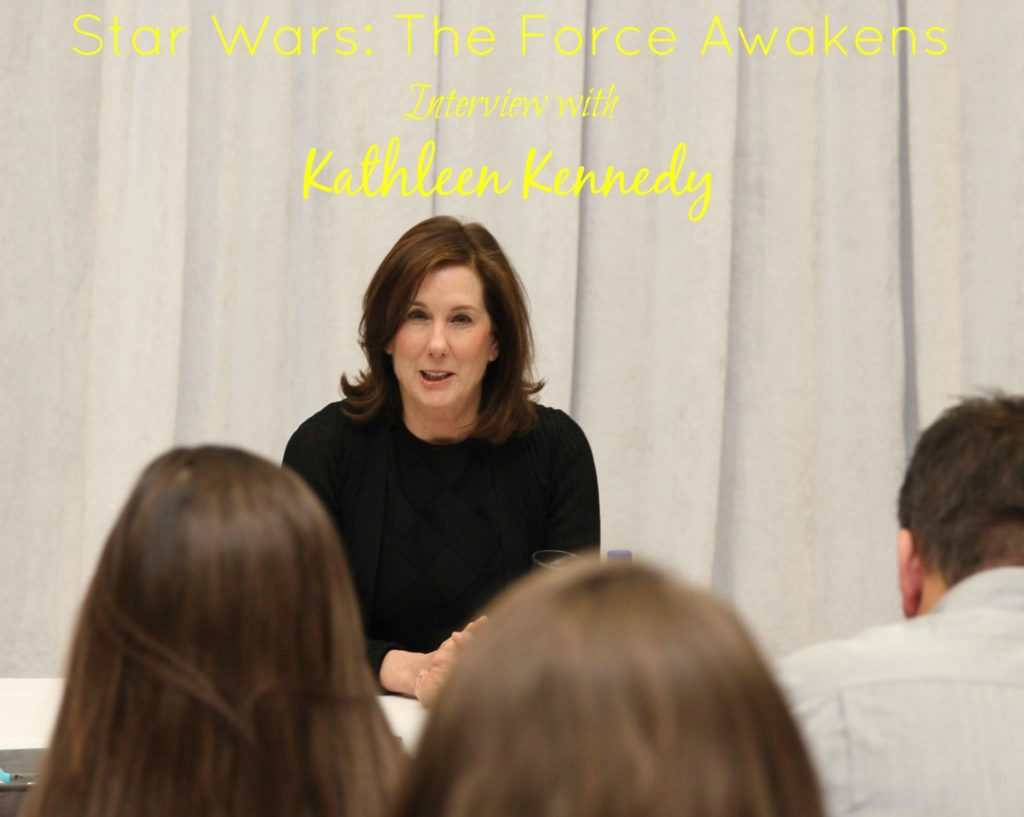 Star Wars The Force Awakens Interview with Kathleen Kennedy
