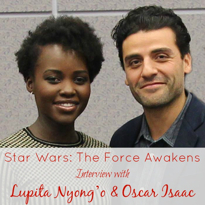 Star Wars The Force Awakens Interview with Lupita Nyong'o and Oscar Isaac