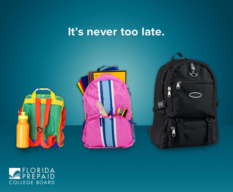 florida prepaid college back pack ad