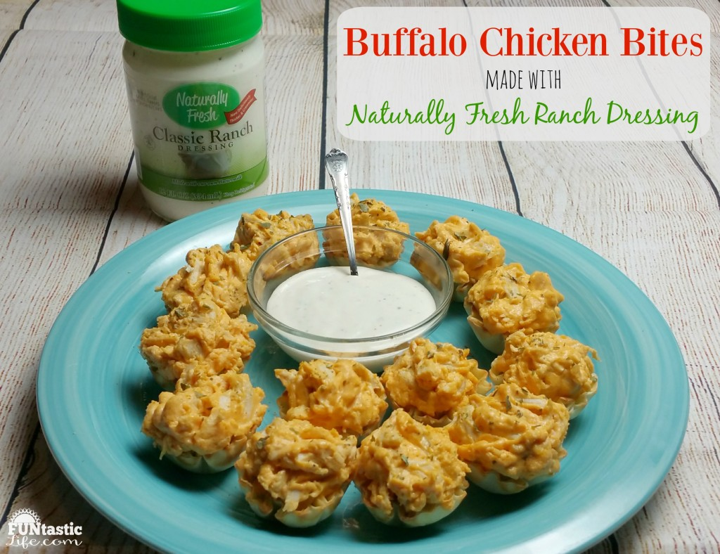 Buffalo Chicken Bites made with Naturally Fresh Ranch Dressing