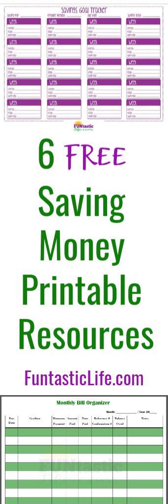 Saving Money Printables