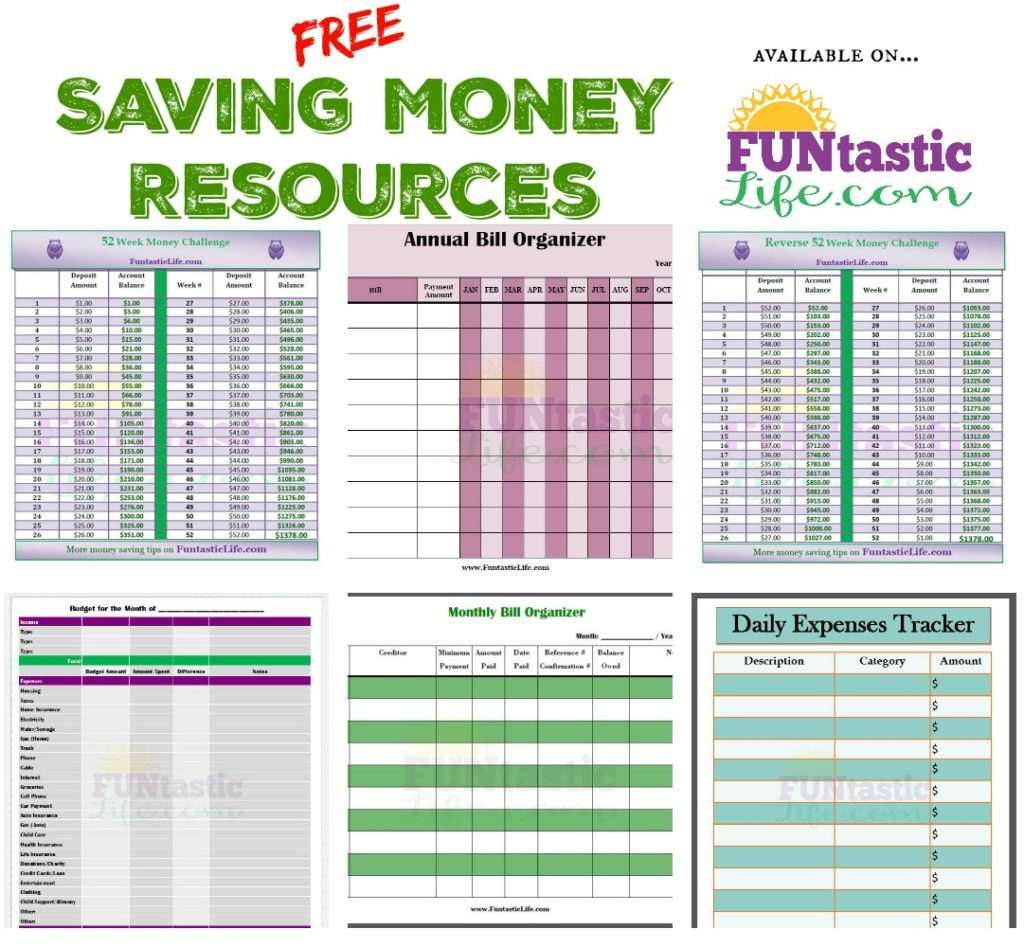 Free Saving Money Printable Resources