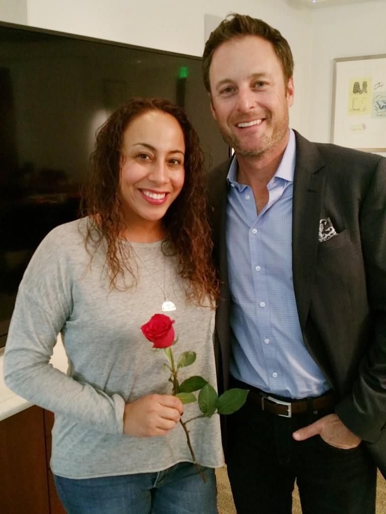 Leanette Fernandez with Chris Harrison