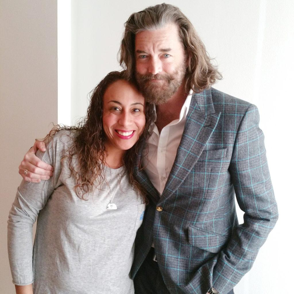 Leanette Fernandez with Timothy Omundson