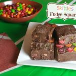 Skittles Chocolate Fudge Recipe That's Perfect for Game Day!