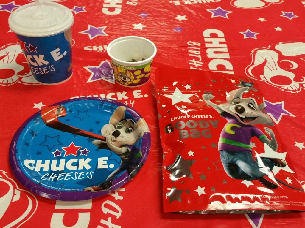 Chuck E. Cheese Birthday Party Goodies
