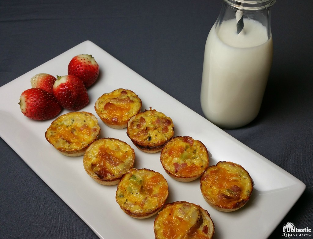 Cheesy Bacon and Ham Quiche Bites Breakfast - Funtastic Life