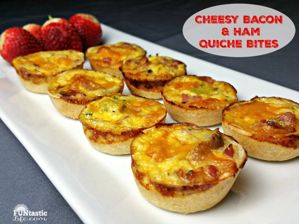 Cheesy Bacon and Ham Quiche Bites - Funtastic Life