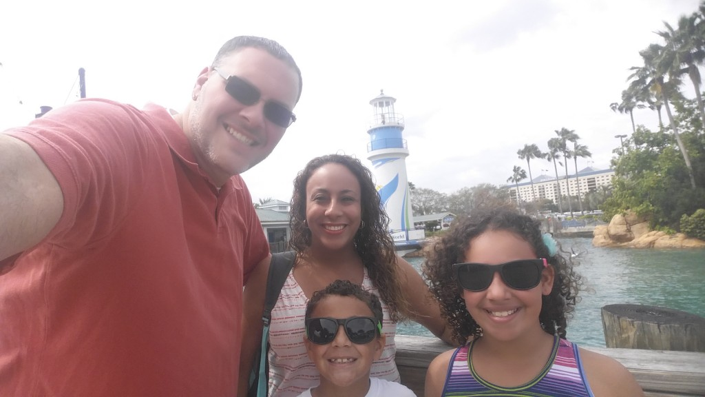Fernandez Family at SeaWorld