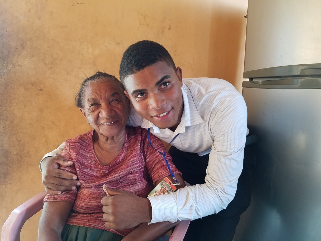 Honelis Florian and his grandma
