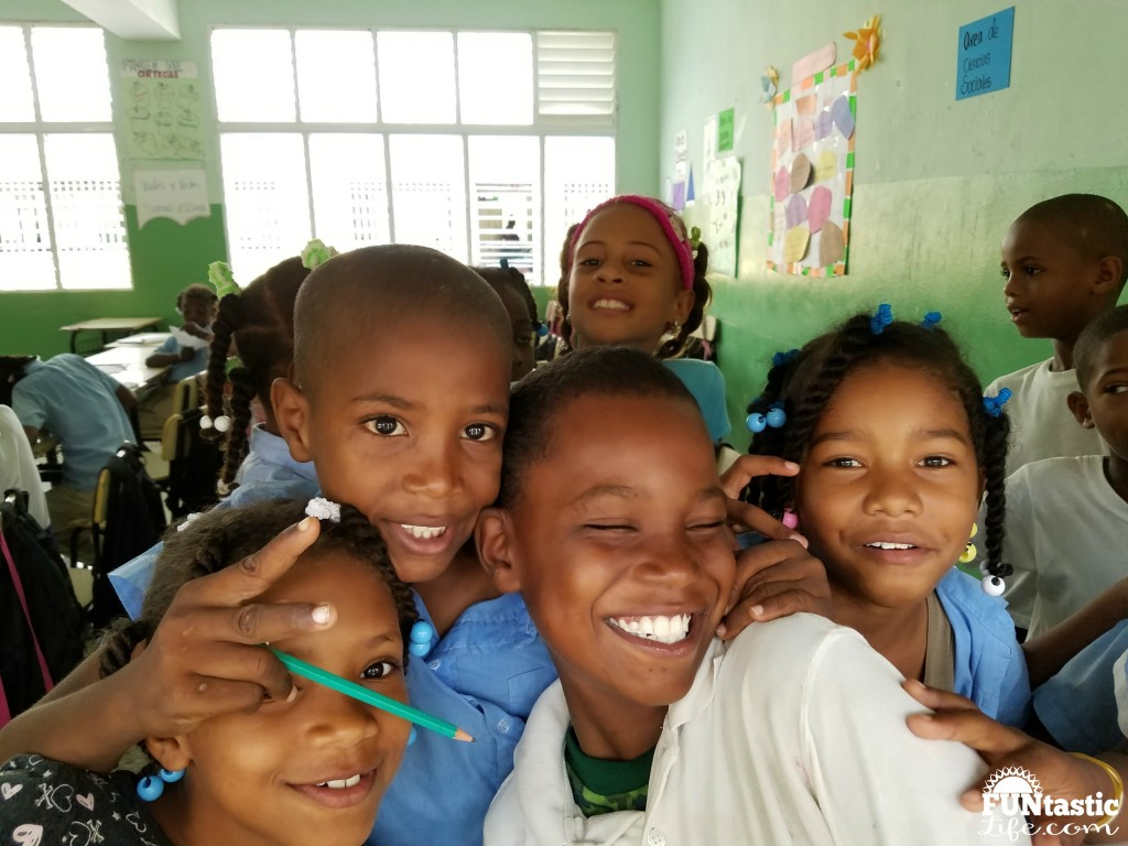 Kids at World Vision School in DR