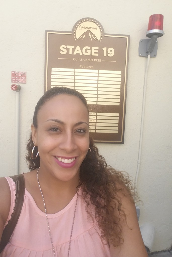 Leanette Fernandez on the Paramount Lot