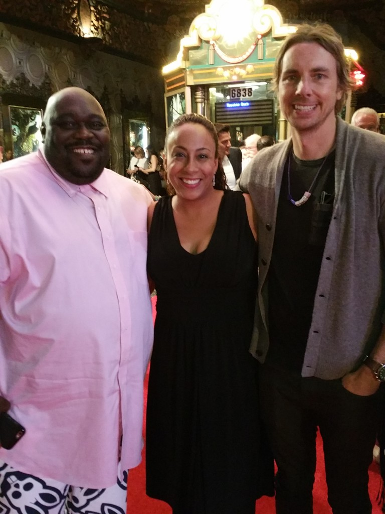 Leanette Fernandez with Dax Shepard and Faizon Love