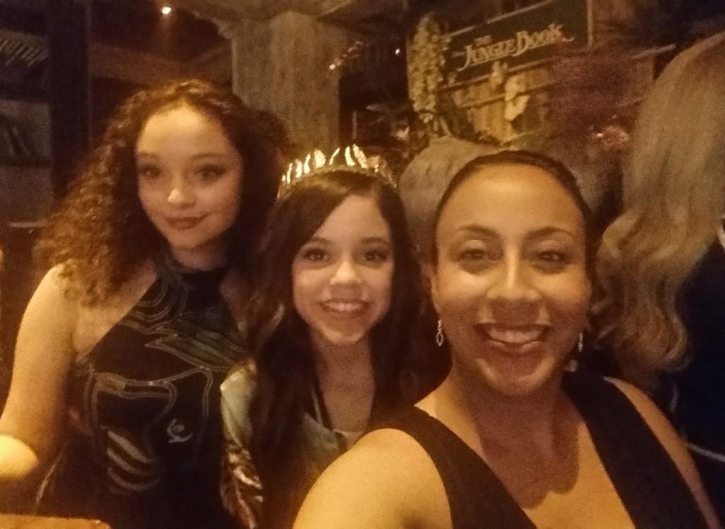 Leanette Fernandez with Jenna Ortega and Kayla Maisonet R