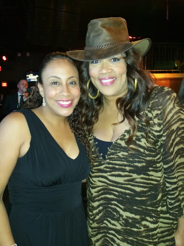 Leanette Fernandez with Kym Whitley