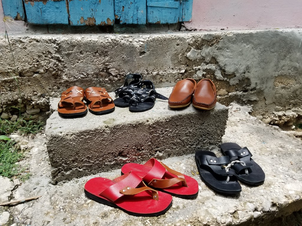 Shoe made by World Vision Shoemakers