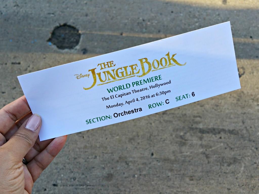 The Jungle Book World Premiere Ticket R