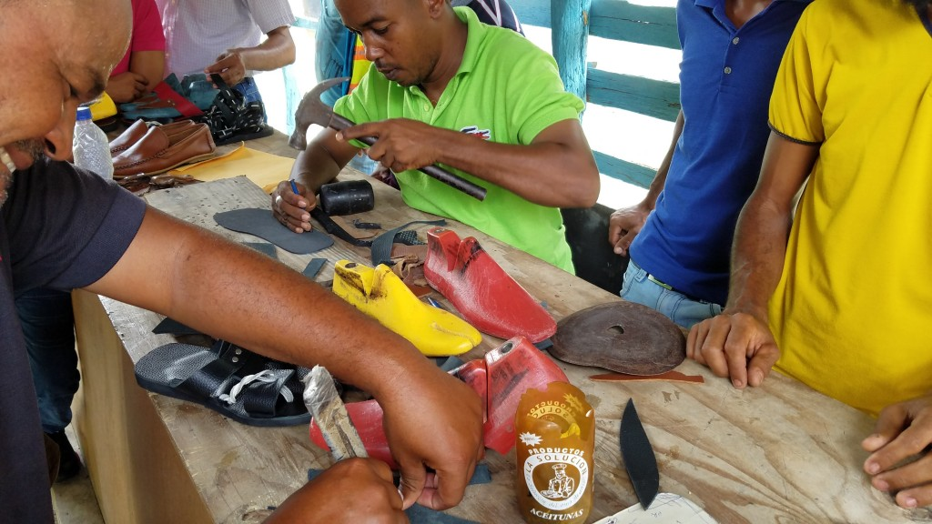 World Vision Shoemakers making shoes